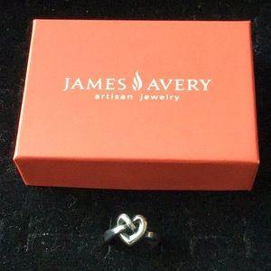 James Avery Heart  love knot ring